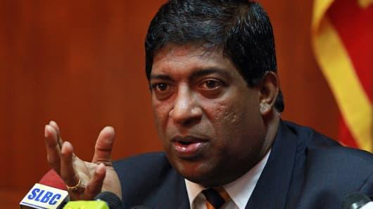 Sri Lankan Finance Minister Ravi Karunanayake.