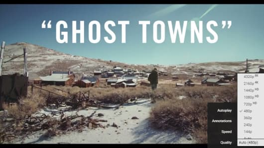 A still from Ghost Towns video