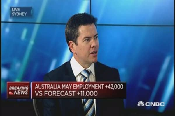 Jobs data show Australia economy on track: HSBC