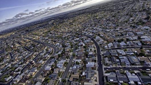 Suburban sprawl in San Diego.