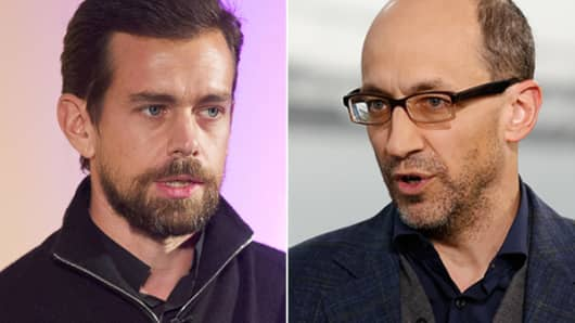 Jack Dorsey and Dick Costolo