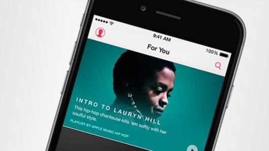 An Apple Music screen