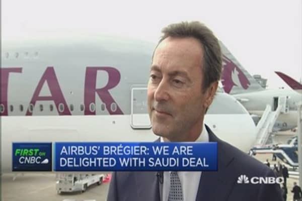 Airbus: We're delighted with Saudi deal