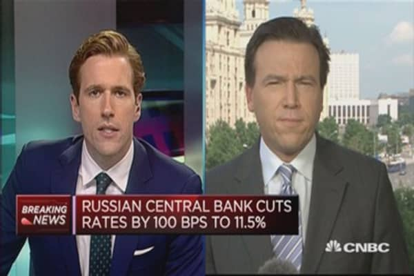 Russia Central Bank cuts rates: Reaction