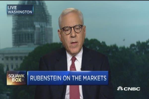 David Rubenstein: US economy in reasonable shape