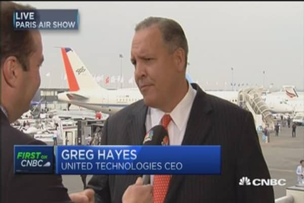 United Technologies at Paris Air Show