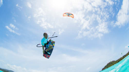 Bill Tai kiteboarding at MaiTai Necker