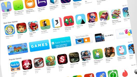 Apple app store screen