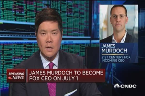 James Murdoch to become Fox CEO on July 1