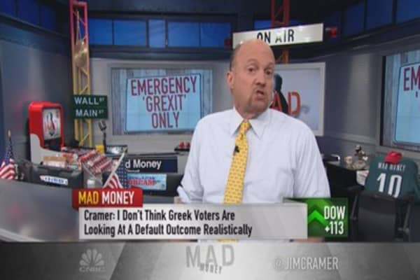 Greece economy in death spiral: Cramer