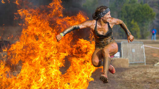 Feeling the heat - TyAnn Clark, Spartan Race, Atlanta 2014