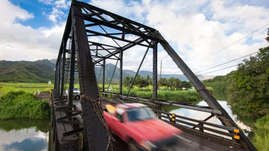 Roughly 40 percent of Hawaii's bridges are rated deficient or worse by the U.S. Department of Transportation.