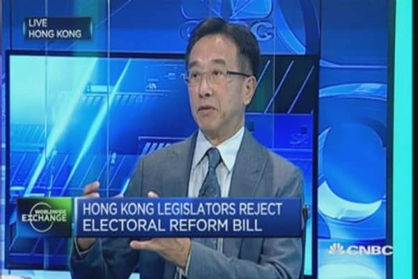 Hong Kong bill rejection 'a step backwards'