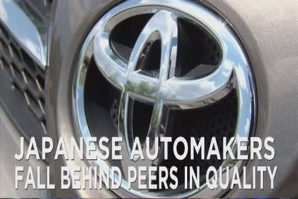 Japanese automakers falling behind their peers