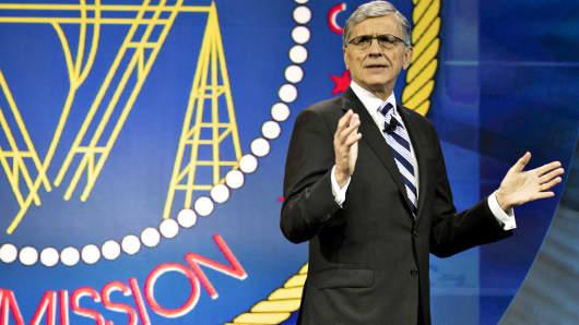 Federal Communications Commission chairman Tom Wheeler speaks at INTX: The Internet & Television Expo in Chicago.