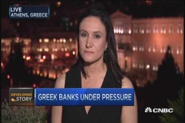 Greek banks under major pressure