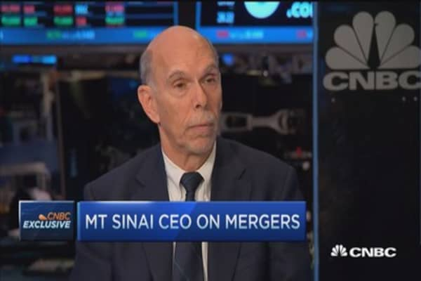 Mount Sinai CEO: Consolidation potentially dangerous