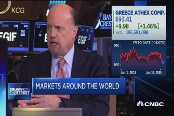 Cramer: Sliver lining to Greek situation