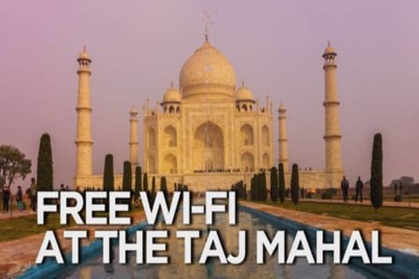 Free wifi now available at the Taj Mahal