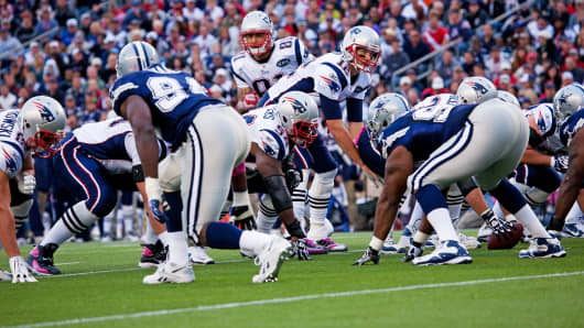 The New England Patriots play the Dallas Cowboys at Gillette Stadium in Foxborough, Mass.