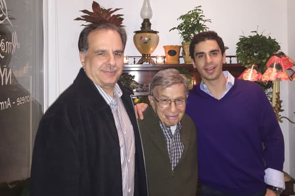Paul Levy, with father Victor and son Eric.