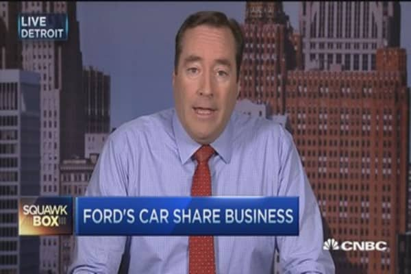 Ford enters auto-sharing biz
