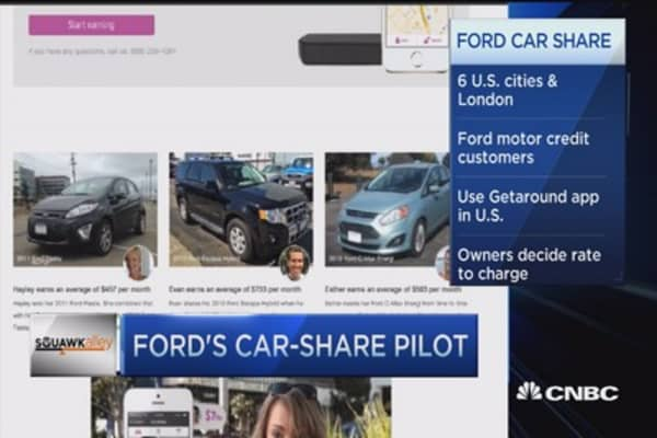 Major automaker tries out car-sharing