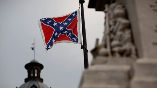 The Confederate flag on the Capitol grounds in Columbia, South Carolina.