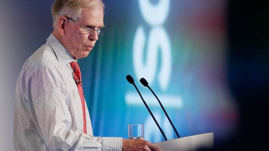 Jeremy Grantham, co-founder and chief investment strategist of Grantham Mayo van Otterloo, speaks at the ReSource 2012 conference in Oxford, England.