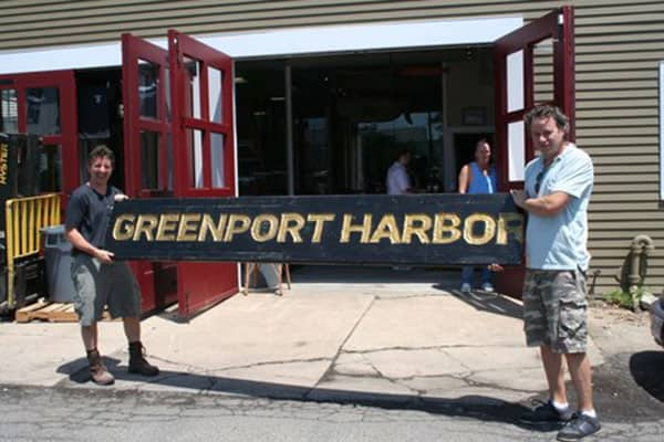 Best friends since college, Rich Vandenburgh (left) and John Liegey founded Greenport Harbor Brewing Co. in 2009