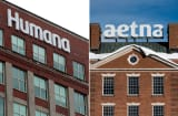 Humana and Aetna signage.