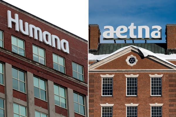 Humana and Aetna signage.