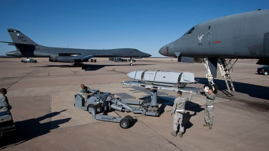 Boeing's B-1B Lancers are part of the existing bomber fleet that will eventually be phased out.