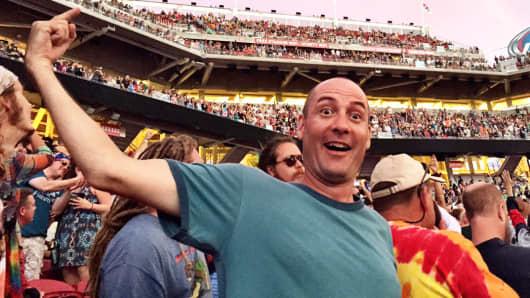 A fan at the Grateful Dead concert in Santa Clara, Calif.