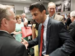 Bobby Jindal greeting supporters