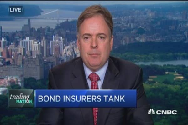 Bond insurers tank