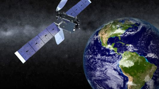 Rendering of Orbital ATK's SKYM-1 satellite