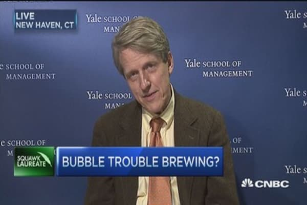 Bubble trouble on Wall Street: Robert Shiller