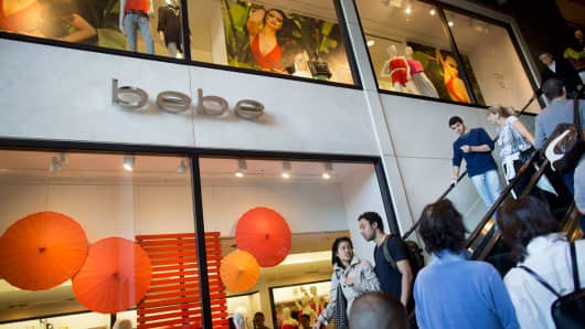 A Bebe store in New York.