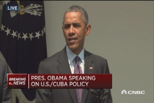 Obama: Reestablishing diplomatic relations with Cuba