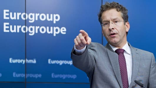 Dutch Finance Minister and Eurogroup President Jeroen Dijsselbloem.