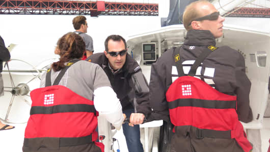 LendingClub CEO Renaud Laplanche, also co-skipper on the Lending Club 2, in San Francisco Bay.