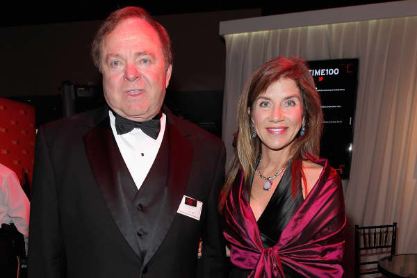 Harold Hamm with now ex-wife Sue Ann Arnall.