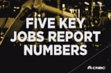 Five key numbers from the jobs report