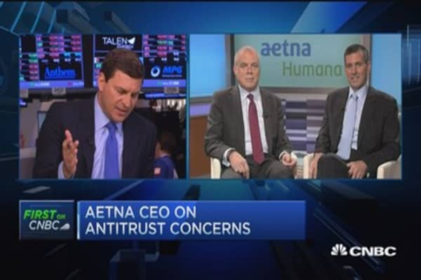 Aetna, Humana CEOs talk antitrust concerns