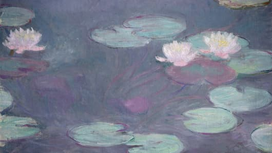 Pink lilies, 1897-1899, by Claude Monet