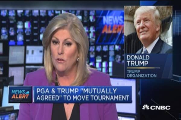 PGA & Trump to move tournament