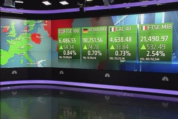 Europe closes higher with Greece in focus