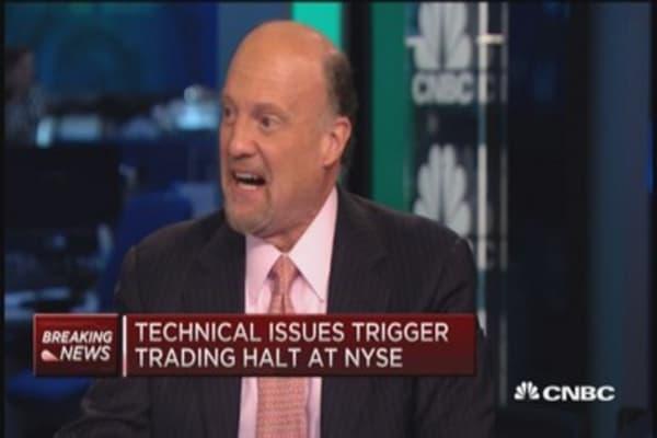 Cramer on NYSE halt: Find a stock you love