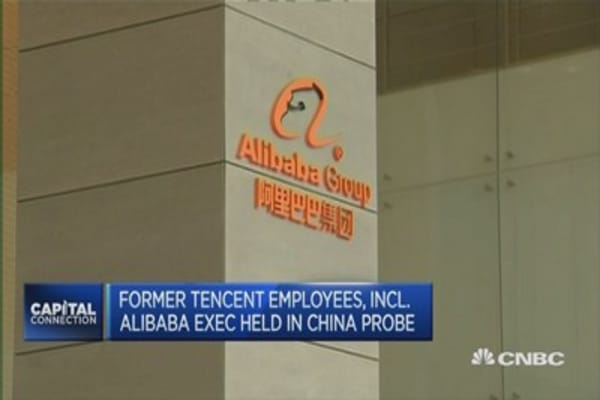 Former Tencent employees detained in graft probe